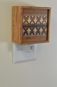 Lilac nightlight with Bentley Lace pattern inlay